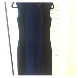 Tahari black and blue business dress